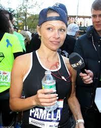 pamela anderson running marathon