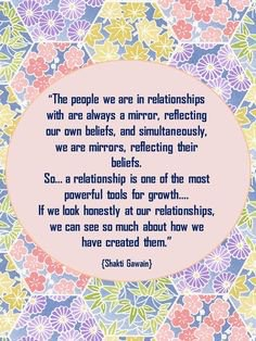 Relationships are our mirror quote