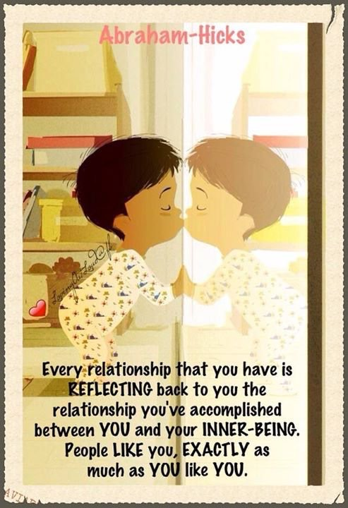 Relationships are reflections Abraham Hicks