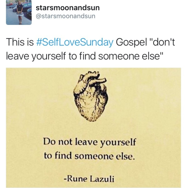 self love sunday dont leave yourself