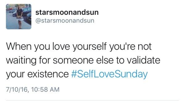 self love sunday validation